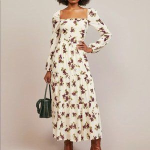 NWT Reformation Kellie Tiered Maxi Dress Grapevine